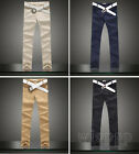 Men Slim Fit Skinny Stretch Pencil Jeans Trousers Casual Pants trousers 4 Colors