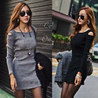 HOT sexy Womens OFF THE SHOULDER Long Sleeve CLUB PARTY CASUAL MINI Dress