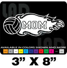 """VOLLYBALL MOM DECAL 3""""X8"""" MANY COLORS AVAILABLE CAR TRUCK VAN SUV"""