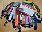 Set of 12 Nylon Puppy Litter Identification Snap Collars ID Identification Bands
