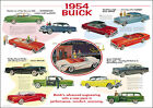 Buick 1954 Full Range Vintage Advertsing Picture Print Poster A1 Aprox (silver)