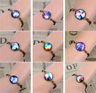 Fashion Handmade DIY Vintage Galactic Univers Glass Cabochon Bracelet gift