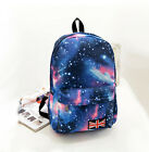 Women's Bookbag Travel New Rucksack Galaxy Starry Space Canvas Backpack 5 Colors