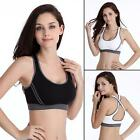 Women Yoga Fitness Stretch Tank Top Seamless Racerback Padded Sports Bra BDRG