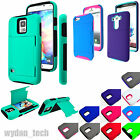 Dual Layer Hybrid Credit Card Case Holder Shockproof Cover For Apple LG Samsung