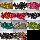 Wooden Beads 10mm x 8mm Round - Multi Colour Listing - Qty 100