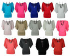 NEW WOMENS LADIES PLUS SIZE SHORT BATWING SLEEVE JERSEY TUNIC SLOUCH TOP