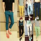Hot Men's Slim British Pants Trousers Nine-point Casual Fashion Pants