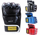 Sparring Grappling Boxing Gloves MMA UFC Fight Punch Ultimate Mitts PU Leather