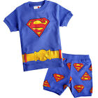 Kids Boys Girls Baby Superhero Pajamas Sleepwear Short Styles Set Size 1-7 Years