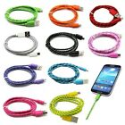 3ft/1M Hemp Rope Micro USB Charger Charging Sync Data Cable Cord For Cell Phone