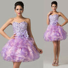 Vogue Beaded Layered Sweet Cocktail Pageant Bridesmaid Evening Prom Short Dress