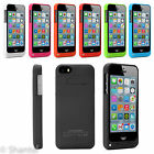 SOFT EXTERNAL POWERBANK BACKUP BATTERY CHARGER CASE COVER STAND FOR IPHONE 5 5S