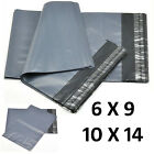 Strong Grey Plastic Mailing Post Poly Postage Bags with Self Seal 6x9 10x14 60µm