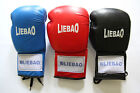 Liebao Cowhide Leather Laces Boxing Gloves, Muay Thai, MMA Kick Fight Punch Bag