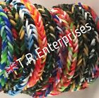 ARMY CAMO CAMOUFLAGE  LOOM BANDS - 300 bands / 24  clips   **Uk seller**