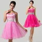 Organza Short Mini Cocktail Party Gowns Evening Homecoming Bridesmaid Prom Dress