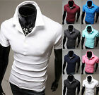 New Men's Slim Fitted Stylish Polo Short Sleeve Casual T-shirts Tee Tops US LO