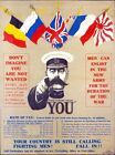 World War One Lord Kitchener Recruitment  Poster A3/A2/A1 Print