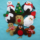 Shabby Chic Handmade Felt Christmas Decorations Choice of 9!!