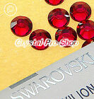 GENUINE Swarovski Ruby (501) Iron On glass Flatback Hotfix Rhinestone Crystal
