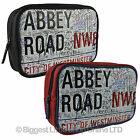 New Mens QUALITY Faux Leather Washbag London ABBEY ROAD Iconic Beatles UK Travel