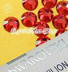GENUINE Swarovski Padparadscha (542) Iron On glass Flat back Hot fix Rhinestones
