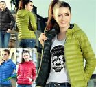 Womens Winter Warm Candy Color Thin Slim Down Coat Jacket Overcoat Parka New