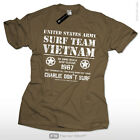 Charlie dont surf Apocalypse now T-Shirt US Army Vietnam Surf Team Skater 1967