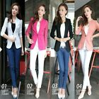 Fashion Autumn Casual Women Lace Splicing 3/4 Sleeve Slim Thin Coat Suit Blazer