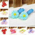 Cute Chrysanthemum Flower Children Student Baby Girl Resin Hair Clips Bands Gift