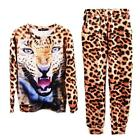 Women Trendy Leopard Sweater Sports Suit 3D Tiger Print Shirt Blouse Pants LOCA