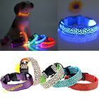 Hot Sale Leopard Pet Cat Dog LED Light Flashing Collar Safety Nylon Neck Collars