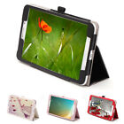 "8"" Folio PU Leather Wake/Sleep Stand Case Cover for Samsung Galaxy Tab 4 T330"