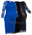JOHN ZACK MATERNITY FITTING SLASH NECK  STRETCH LACE BODYCON DRESS NEW 6 - 18
