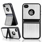 2-Way Stand Aluminum Luxury Chrome Soft Gel Case Cover Skins For iPhone 5 5S