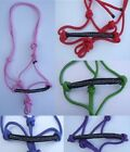 Knotted rope halter with diamante detail ( pony horse pressure head collar )