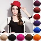 Vintage Fall Fashion Women's Roll Brim Dome Cloche Hat Bowler Derby Hat Headwear
