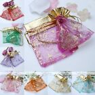 10pcs 9x11cm Favour Organza Gift Bag Christmas Tree Wedding Voile Jewelry Pouch