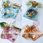 10pc 9x11cm Favour Organza Gift Bag Christmas Maple Leaf Voile Jewelry Pouch Lot