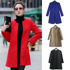Women Designer Vogue Wool Blend Winter Thick parka jacket Coat Overcoat Outwear