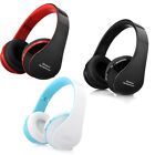 Foldable Wireless Bluetooth Stereo Headset Handsfree Headphone Mic For iPhone US