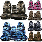 CC 91-97 FORD RANGER ARMY CAMO CAR SEAT COVERS 60-40 seat+CONSOLE COVER,CHOOSE