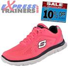 Skechers Womens Flex Appeal Memory Foam Running Gym Trainers Pink * AUTHENTIC *