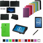 """Folding Folio Leather Case Cover+Film+Pen for 7"""" Dell Venue 7 Android Tablet PC"""