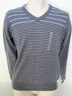 NEW GAP Mens Blue & Gray Striped V-Neck Sweater Sizes XS,S,L,XL NWT