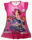 Disney Little Mermaid Ariel Enfants Filles Jupe Pyjama Robe Girls 3-10Y Hot Rose