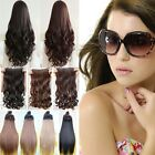 3/4 Full Head 1Piece 5clip hairpiece in Synthetic Hair Extension All styles K8
