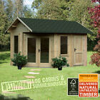 NEW 13x9FT 4x3m CORNER 34mm LOG CABIN SUMMERHOUSE GARDEN OFFICE STORAGE 13x9 4x3