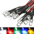 20/50x 20CM Pre-Wired Prewired Ultra Bright 12V 5mm LEDs LED Light Lamp Bulb NEW